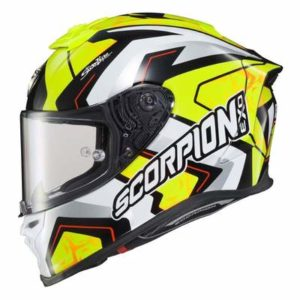Scorpion Exo R1 Air Alvaro Bautista replica racing helmet side view