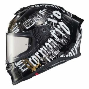 Scorpion Exo R1 Air BlackLetter helmet side view