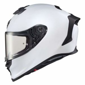 Scorpion Exo R1 Air solid white motogp helmet side view