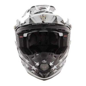 6D ATR-2 Patriot dirt bike helmet front view