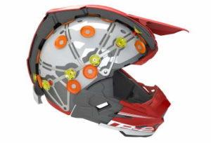 6D atr-2 motocross helmet cutaway