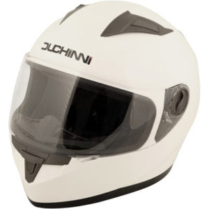 Duchinni-D705-plain-white-motorcycle-helmet-front-view
