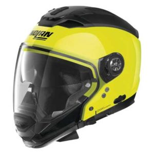 Nolan-N70-2-GT-street-helmet-hi-viz-yellow-side-view