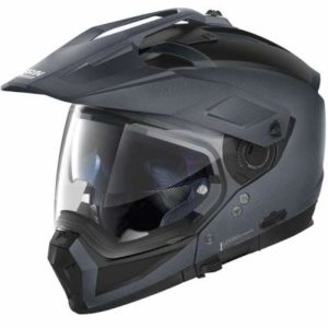 Nolan N70-2 X black graphite helmet side view