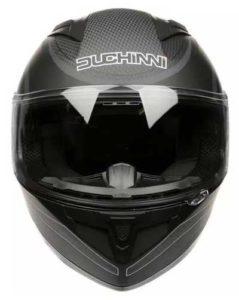 duchinni-d705-synchro-black-gunmetal-helmet-front-view