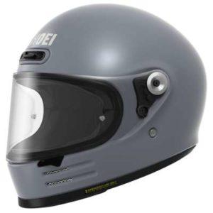 shoei glamster basalt grey retro crash helmet side view