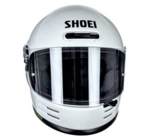 shoei glamster off white crash helmet front view