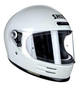 shoei glamster off white crash helmet side view