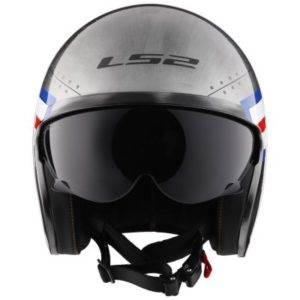LS2 Spitfire bombrider open face motorcycle helmet front view