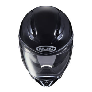 hjc-f70-solid-gloss-black-motorcycle-crash-helmet-top-view