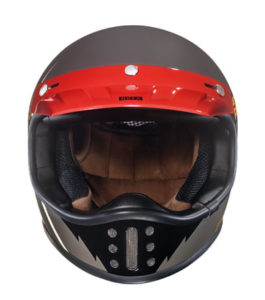 Nexx-XG200-star-race-retro-helmet-concrete-front-view