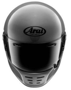 arai rapide modern grey retro helmet front view