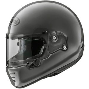arai rapide modern grey retro motorbike helmet side view