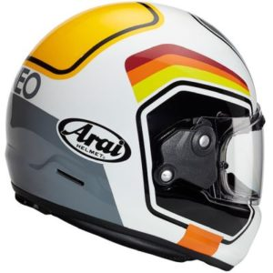 arai rapide number retro motorbike helmet rear view