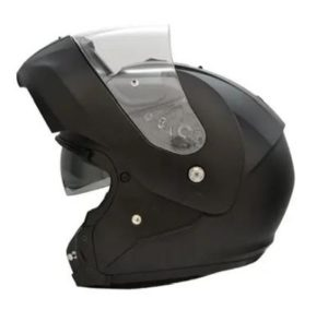 hjc-c90-modular-helmet-matt-black chin bar up