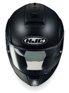 hjc-c90-modular-helmet-matt-black-front-view
