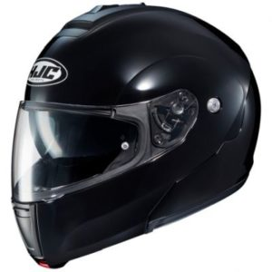 hjc c90 modular helmet metal gloss black side view
