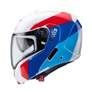 Caberg Horus Scout red white blue motorbike helmet side view
