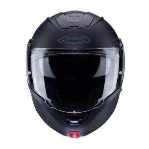 Caberg Horus matt black modular helmet front view