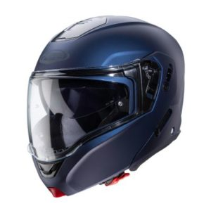 Caberg Horus matt blue modular helmet side view