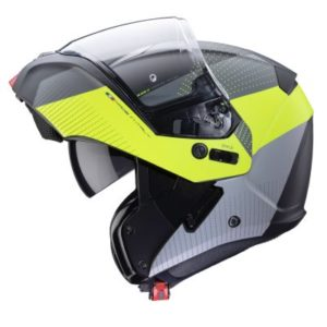 Caberg Horus scout fluo yellow black helmet open face side view