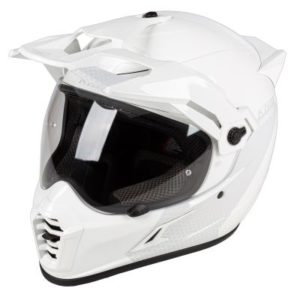 Klim Krios pro adventure helmet haptik white side view