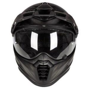 Klim Krios pro dual sport helmet matte black front view