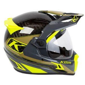 Klim Krios pro helmet Loko Vivid Sage side view