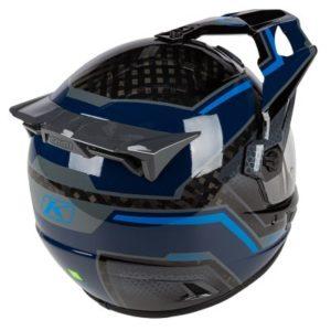 Klim Krios pro helmet Mekka Kinetik Blue rear view
