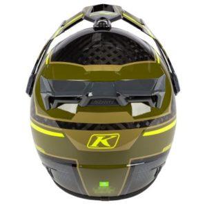 Klim Krios pro helmet Mekka Vivid Sage rear view