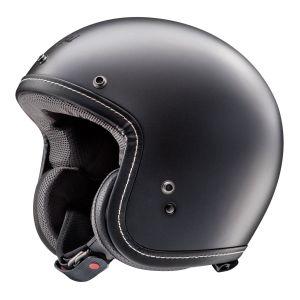 arai classic v frost black open face helmet side view 2