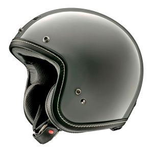 arai classic v modern grey open face helmet side view