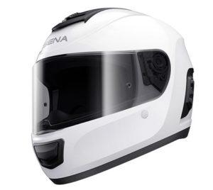 sena momentum lite white helmet side view