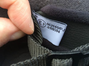 ECE 22.06 motorcycle helmet label