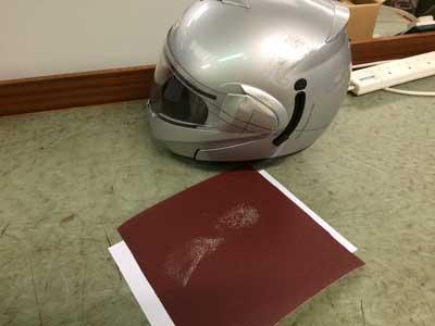 End-result-of-oblique-impact-helmet-testing
