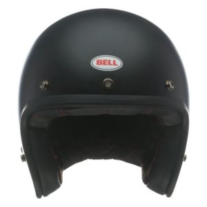 bell custom 500 dlx matte black open helmet front view