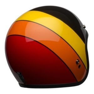 bell custom 500 dlx open face helmet rear view