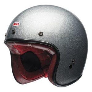 bell custom 500 silver flake helmet front view