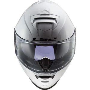 LS2 FF800 assault full face helmet white front view