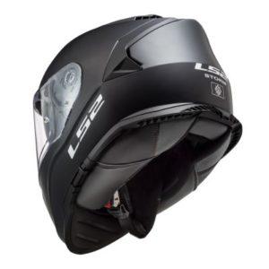 ls2 ff800 storm matt black helmet rear view