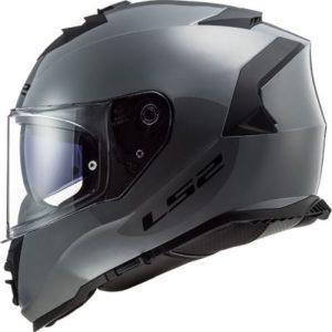 ls2 storm helmet nardo grey side view