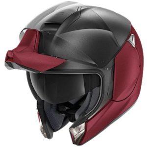 shark evojet dual blank modular helmet open face view