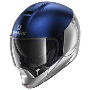 shark evojet dual blank modular motorbike helmet side view