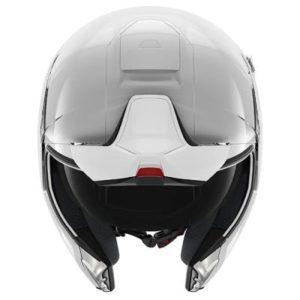 shark evojet gloss white flip-up helmet front view