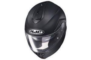 HJC C91 matte black modular motorcycle helmet top view