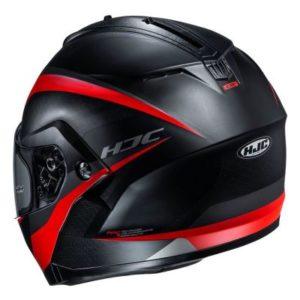 hjc c91 taly black grey helmet rear view