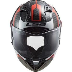 Front view of the LS2 Thunder Racing 1 FIM track helmet
