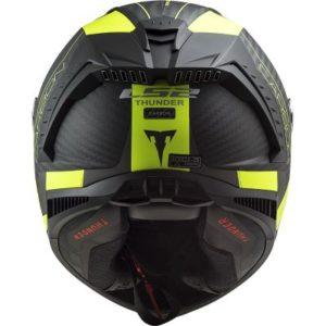 LS2 Thunder FIM sportsbike helmet rear view