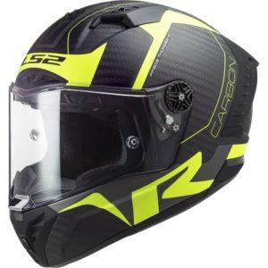 LS2 Thunder Racing 1 helmet in matt hi viz yellow