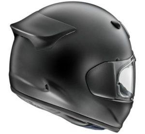 arai quantic frost black motorbike helmet rear view